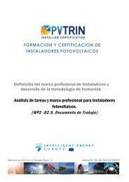 formacion y certificacion de instaladores fotovoltaicos - pvtrin