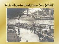 Technology in World War I