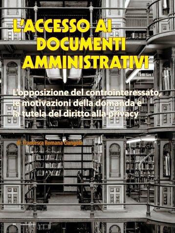 L'accesso ai documenti amministrativi