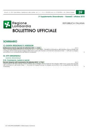 Scarica il bando pubblicato nel BURL n. 39 del 01 ... - CCIAA di Pavia