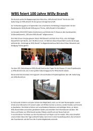 WBS feiert 100 Jahre Willy Brandt