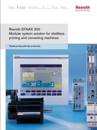 Rexroth SYNAX 200 Modular system solution for ... - Bosch Rexroth