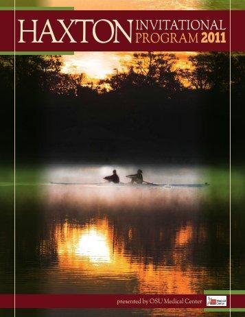 HAXTON iNviTATiONAl prOgrAm 2011 - Haxton Invitational Regatta
