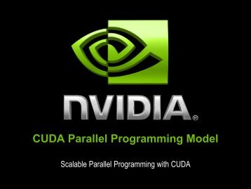 CUDA Parallel Programming Model - eResearch SA