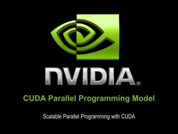 CUDA Parallel Programming Model - eResearch SA