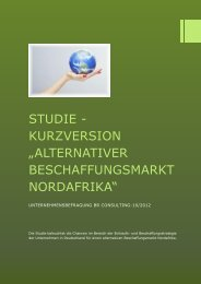"Studie ""alternativer Beschaffungsmarkt Nordafrika"" - BR Consulting"