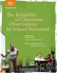 MET Reliability of Classroom Observations Research ... - CESA #4