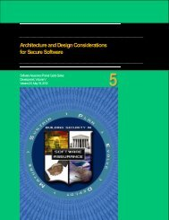 Architecture and Design Considerations - Build Security In - US-CERT