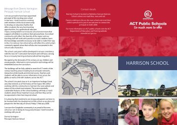 Harrison scHool - Education and Training Directorate - ACT ...