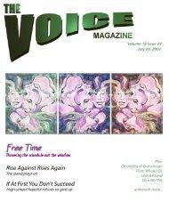 April 6, 2007 - Volume 15, Issue 12 - The Voice Magazine