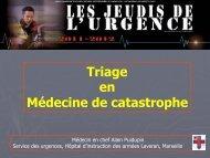 Triage en Médecine de catastrophe - SMUR BMPM