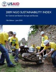 2009 NGO Sustainability Index - July 2010 - The International ...