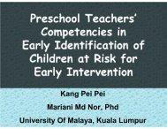Preschool Teachers' Competencies in Early Identification of ...