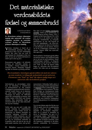 Det materialistiske verdensbildets fødsel og sammenbrudd - Ildsjelen