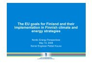 The EU goals for Finland and their implementation in Finnish climate ...