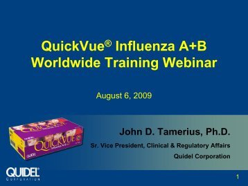 QuickVue® Influenza A+B Worldwide Training Webinar - Quidel