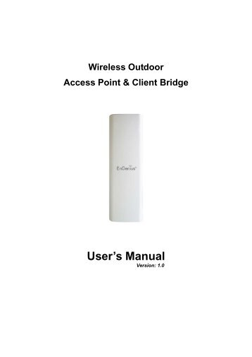 Wireless Outdoor Access Point & Client Bridge User's Manual