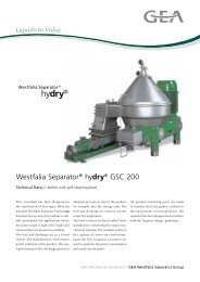 hydry® - GEA Westfalia Separator Group