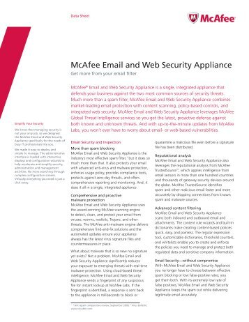 McAfee Email and Web Security Appliance - Scunna Network ...