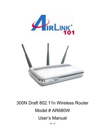 AIRLINK101 300N DRIVER FOR WINDOWS 7