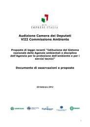 Testo Audizione 28 febbraio - Rete Imprese Italia