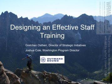Designing an Effective Staff Training - NOLS