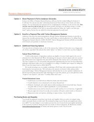 Payment Planning Worksheet - Anderson University