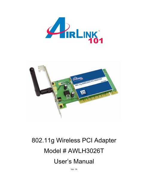 AIRLINK101 PCI DOWNLOAD DRIVER