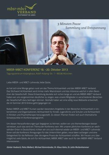 Programm als PDF - MBSR-MBCT Verband