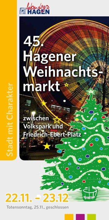Broschüre Weihnachtsmarkt 2012 als PDF-Download - Hagen