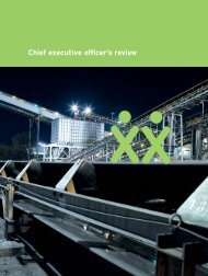 Chief executive officer's review - Exxaro