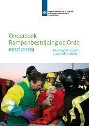 Onderzoek Rampenbestrijding op Orde eind 2009 - EenVandaag