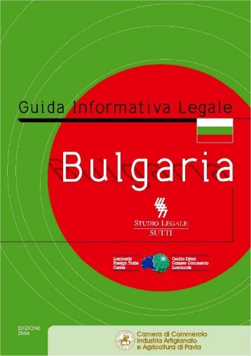 Bulgaria - Camera di Commercio Pavia