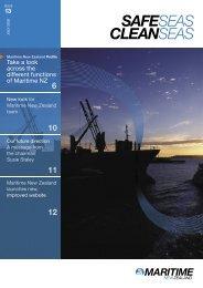 Safe Seas Clean Seas July 2005 - Maritime New Zealand