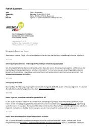Infobrief 1/2012 - Lokalen Agenda 21 Kanton Solothurn