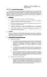 DIRECTIVA No. DL/51-55-61-82/001-SAGE-003 - Ministerio de la ...