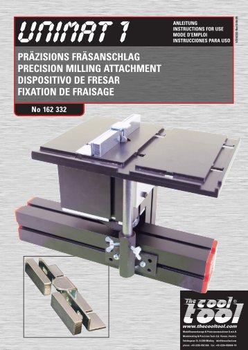 präzisions fräsanschlag precision milling attachment dispositivo de ...