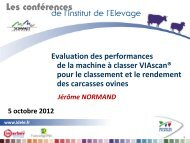 Evaluation des performances de la machine à classer VIAscan ...