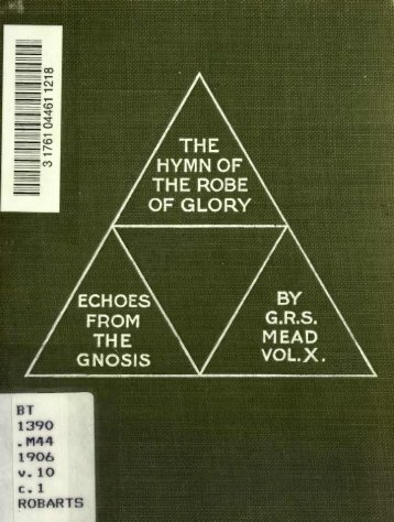 The Hymn of the Robe of Glory (Echoes