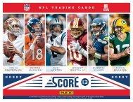 2013 Score Football Product Information Sheet - Magazine Exchange