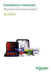 Installation materials - Schneider Electric
