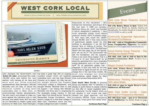 Compendium of Past Events in County Cork | Cork County