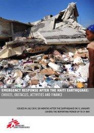 Emergency response after the haiti earthquake - Médecins Sans ...