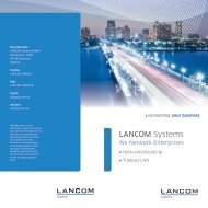 Connecting your business - LANCOM Systems GmbH