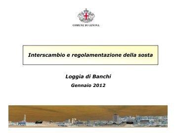 Presentazione tavolo sosta - Urban Center - Comune di Genova