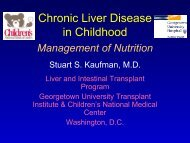 Chronic Liver Disease in Childhood