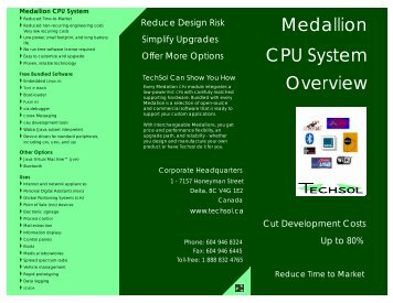 Medallion Overview CPU System - Techsol