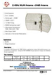 MARS MA-WE56-DP12B 12dBi 5GHz Dual Polarity 120 degrees Sector Antenna w//Mount