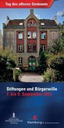 Tag des offenen Denkmals 2012 - Stiftung Denkmalpflege Hamburg