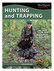 Hunting and Trapping Regulations - West Virginia Department of ...